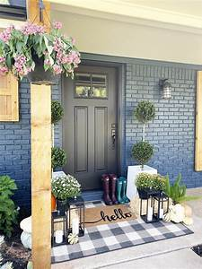 Affordable, Fall, Front, Porch, And, Tabletop, Decor, Ideas