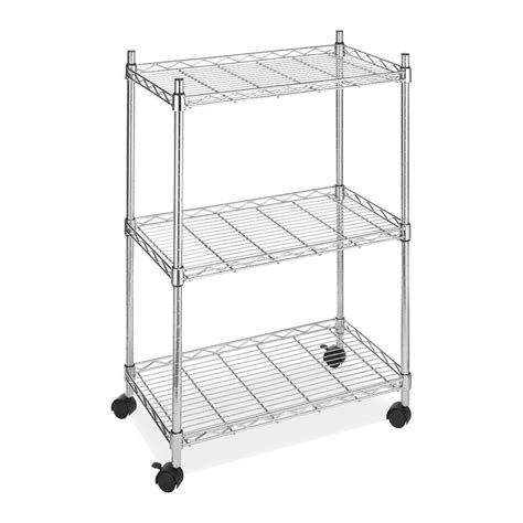 kitchen racks and storage 3 tier wire utility cart rolling shelving storage rack 5543