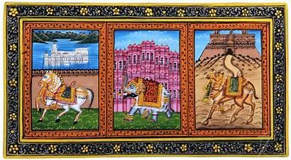 Rajasthani Elephant Miniature Painting Horse Camel Palaces