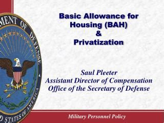 Basic Allowance For Housing by Ppt Overseas Housing Allowance Powerpoint Presentation