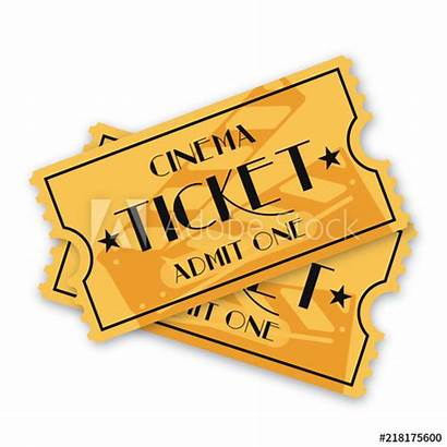 Cinema Ticket Movie Film Tickets Biglietto Isolato