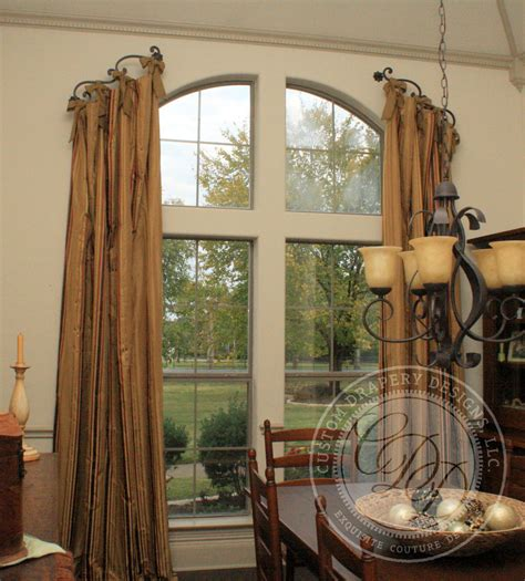 curved curtain rod for arched window treatments arched window treatment window treatments