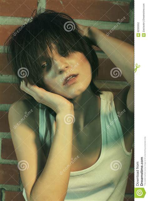 Tinted Image Heroin Chic Stock Photo Image 62300952