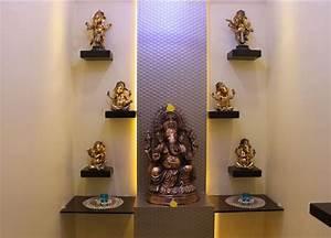 Pooja Room Designs in Living Room Modern, Room and Puja room
