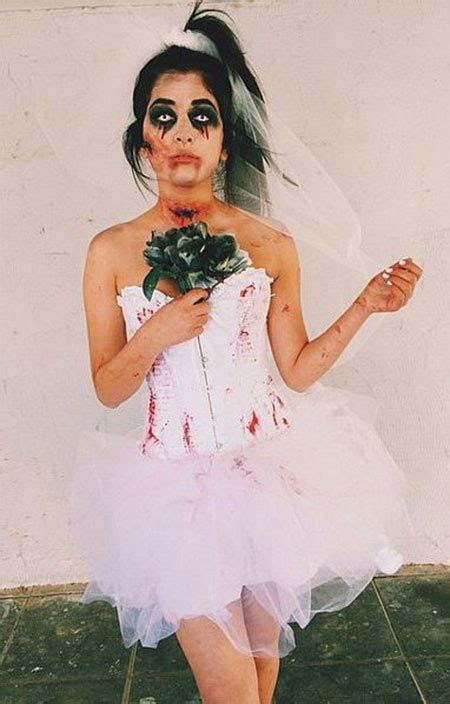 scary corpse bride makeup  ideas  halloween  modern fashion blog