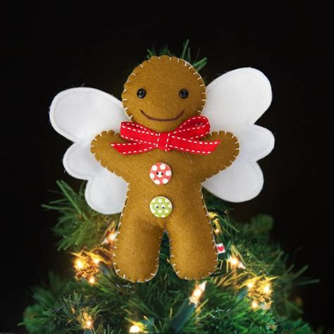 gingerbread man tree topper by miss shelly designs