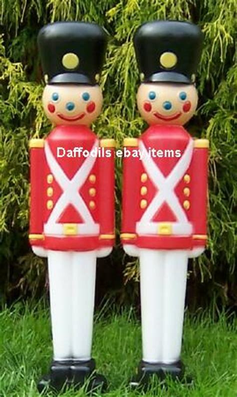 outdoor soldiers for christmas black hat soldier pair outdoor lawn plastic blowmold new