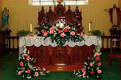 church wedding decorations altar flowers church