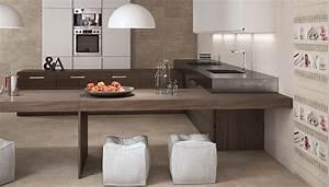 Couleur Cuisine Moderne : carrelage moderne salle de bains cuisine et espace de vie ~ Melissatoandfro.com Idées de Décoration