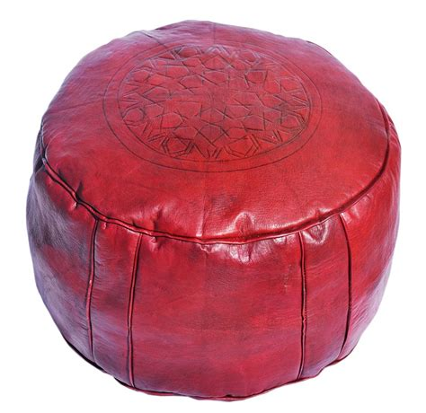 pouf en cuir marocain les poufs marocains en cuir pour d 233 coration deco salon marocain