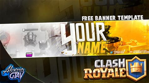 Banner Template De Clash Royale by Free Banner Template 2016 Clash Royale Y Clash Of Clans
