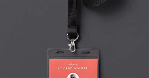 psd identity card holder mockup psd mock  templates