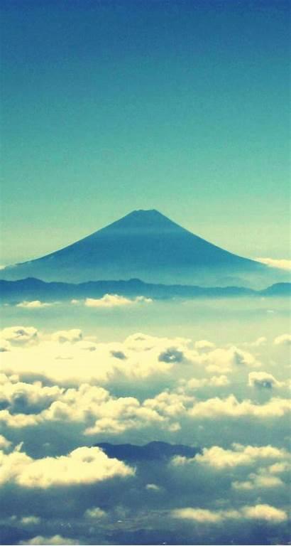 Fuji Mount Iphone Mt Japan Clouds Wallpapers
