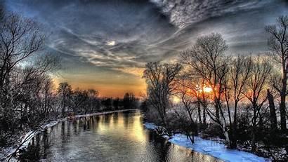 Hdr 4k Ultra Sky Winter Sunset Wallpapersafari