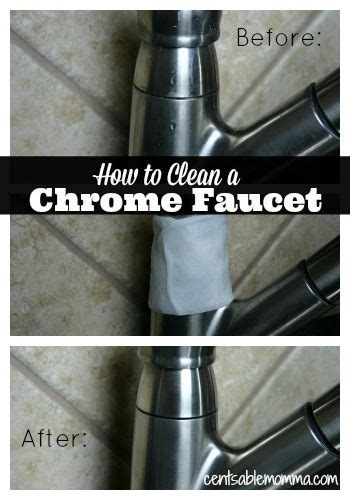 clean  chrome faucet cleanses stains