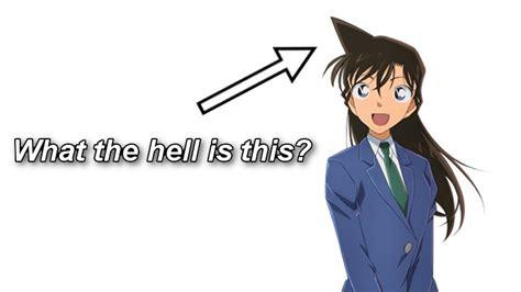 explain  strange anime hairstyle