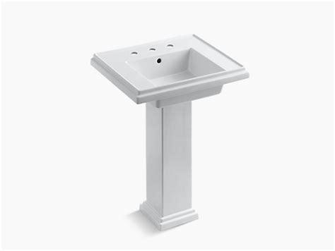 kohler tresham 24 inch pedestal sink k 2844 8 tresham 24 inch pedestal sink with 8 inch