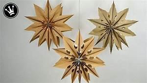 Sterne Aus Butterbrottüten Basteln : diy xxl sterne basteln i aus biom llt ten i mit led lichterkette i 3 g basteln weihnacht ~ Watch28wear.com Haus und Dekorationen