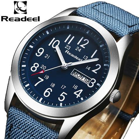 readeel sport watches men luxury brand nylon strap army military men  clock male quartz