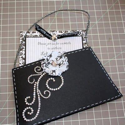 purse invite template fashion show invitation bling
