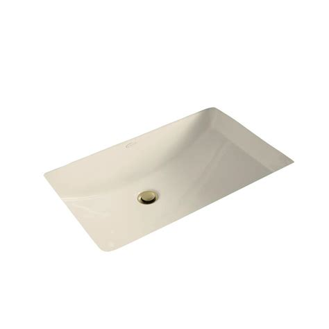 kitchen sink drain kohler ladena 23 1 4 quot undermount bathroom sink in almond 5739