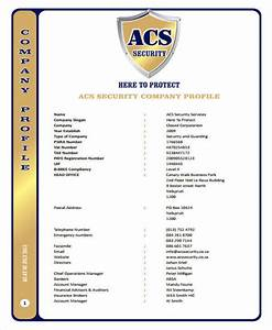 34 office furniture company profile pdf for Security company profile template