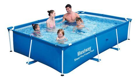 bestway pool anleitung bestway deluxe splash frame pool 259x170x61cm 56403