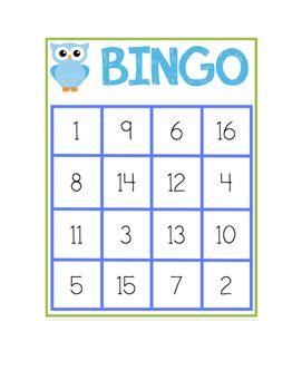 number bingo 1 20 by miss cronin s classroom teachers pay teachers