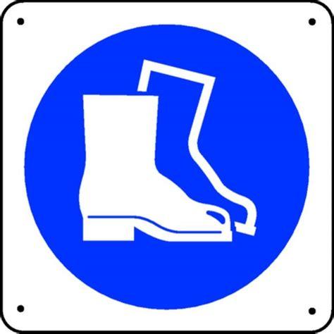 x au bureau panneau chaussures de sécurité picto stocksignes