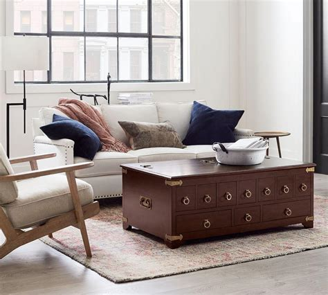 Inspire yourself from old style apothecary coffee tables and make one for your personal from scratch by subsequent a simple step by step seminar. Friends Apothecary Coffee Table | Pottery Barn CA
