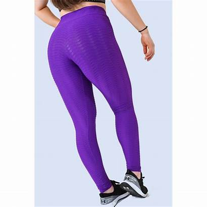 Leggings Polyamide Purple Fabric Embossed Brazilian