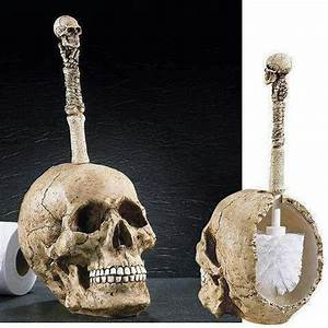 Skull bathroom accessory bathbeauty pinterest for Skull bathroom accessories