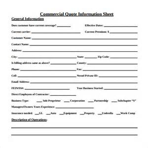 Business Term Sheet Template Quote Sheet Template 9 Free Documents In Pdf Word