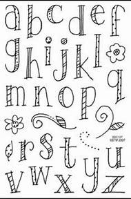 Cute Handwriting Fonts Alphabet