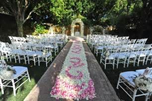 unique wedding ceremony ideas petal aisle runner for outdoor ceremonies unique wedding flower ideas 5 onewed