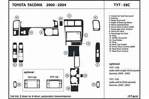 2001 Toyota Tacoma Dash Kits