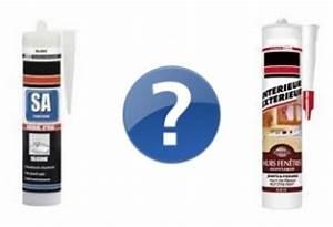 Joint Silicone Exterieur : joints en silicone ou mastic acrylique reussir ses travaux ~ Melissatoandfro.com Idées de Décoration