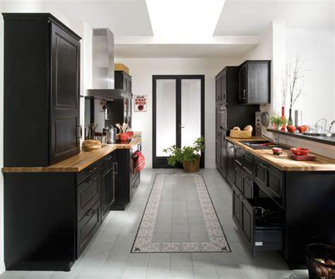 meuble cuisine laqué organisation meuble de cuisine noir laque