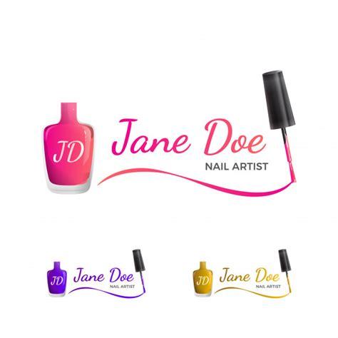 Nail art logo Vector   Premium Download