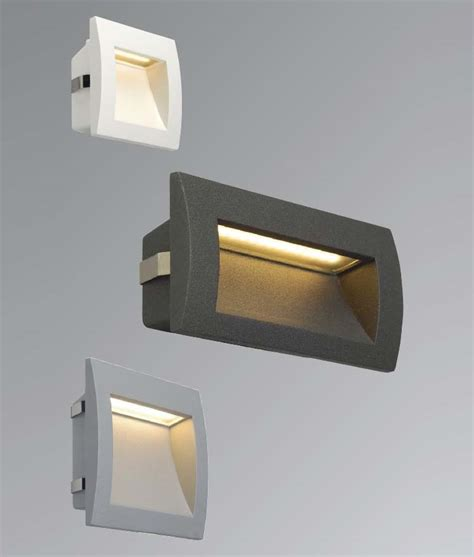 exterior recessed wall light with leds