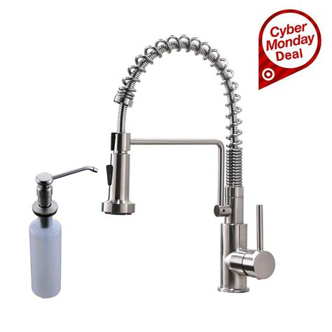 brushed nickel kitchen sink faucet soap dispenser brushed nickel kitchen sink faucet pull out sprayer mixer
