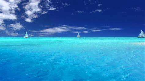 hd wallpaper azure ocean yacht cloud