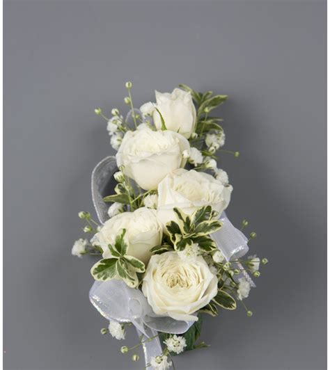 A White Rose Wrist Corsage Stayton OR Florist