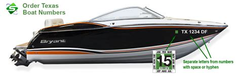 Tx Numbers For Boats by Information On Custom Boat Registration Numbers For