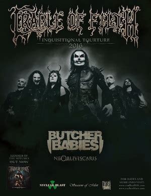 Tour Information Cradle Of Filth Announce 'inquisitional