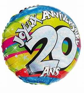 Deco Anniversaire 20 Ans Pas Cher : ballon h lium joyeux anniversaire 20 ans pas cher ~ Melissatoandfro.com Idées de Décoration