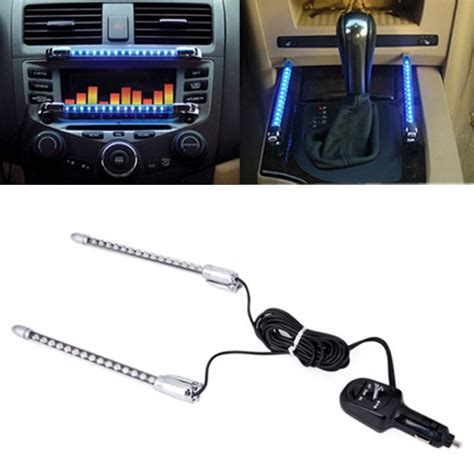 sound activated led light strips car dash accent