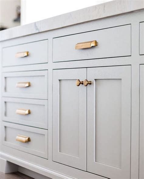 Kitchen Cabinet Pulls Copper by Grey Cabinets Copper Hardware House Decor In 2019