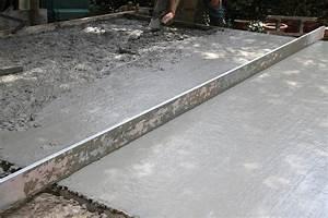 Terrasse beton caracteristiques prix au m2 toutes les for Prix m2 terrasse beton