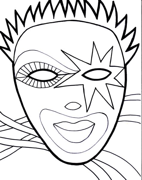 Coloring Mask by Mask Coloring Pages Coloringsuite